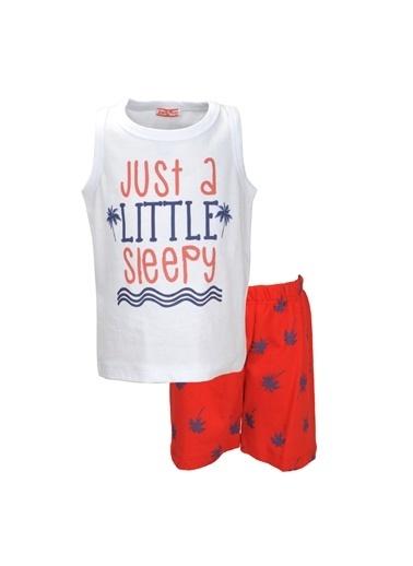 Zeyland Kırmızı Palmiye şortlu Pijama Takımı (1-7yaş) Kırmızı Palmiye şortlu Pijama Takımı (1-7yaş) Kırmızı